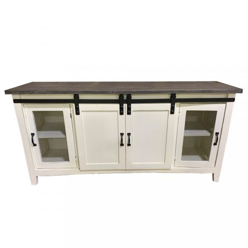 Picture of RUSTIC BARN DOOR ENTERTAINMENT CONSOLE - WO382