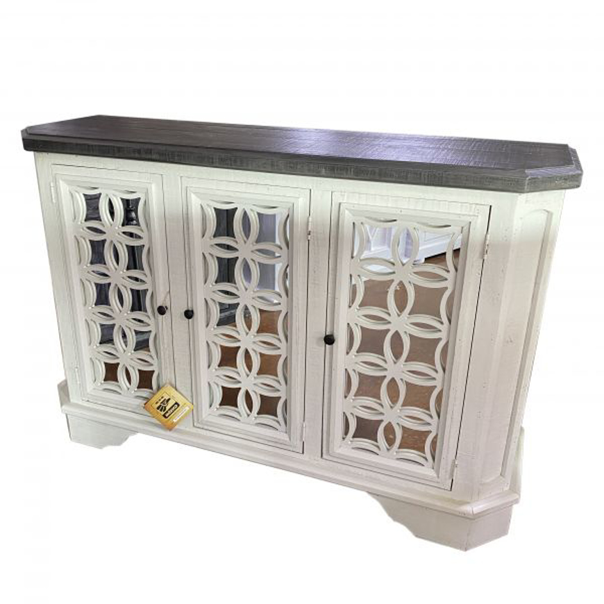 Picture of RUSTIC BELLA CONSOLE WITH MIRROR - MD931