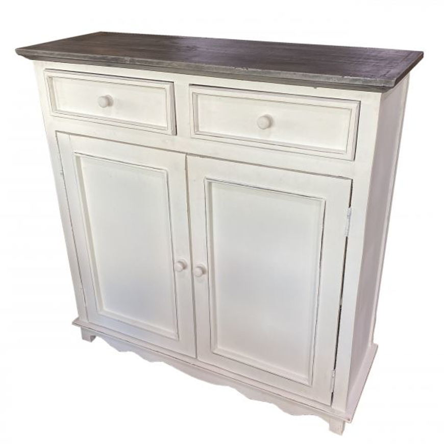 Picture of RUSTIC CABINET WITH 2 DRAWER 2 DOORS - WO384