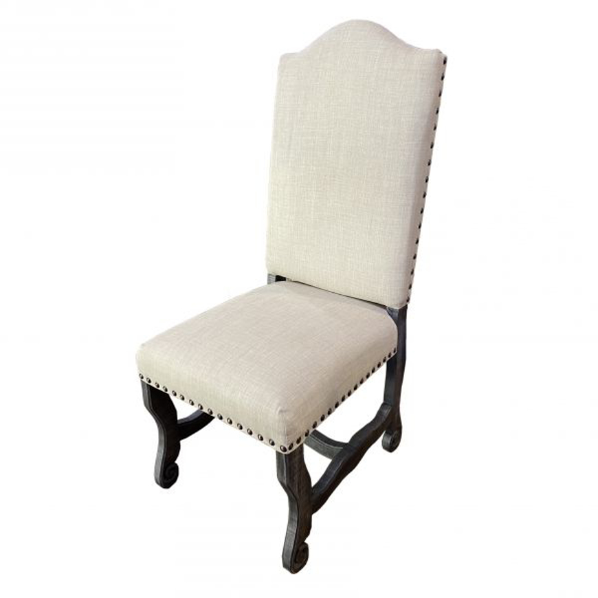 Picture of RUSTIC MODERN CHAIR WITH FABRIC - WO510