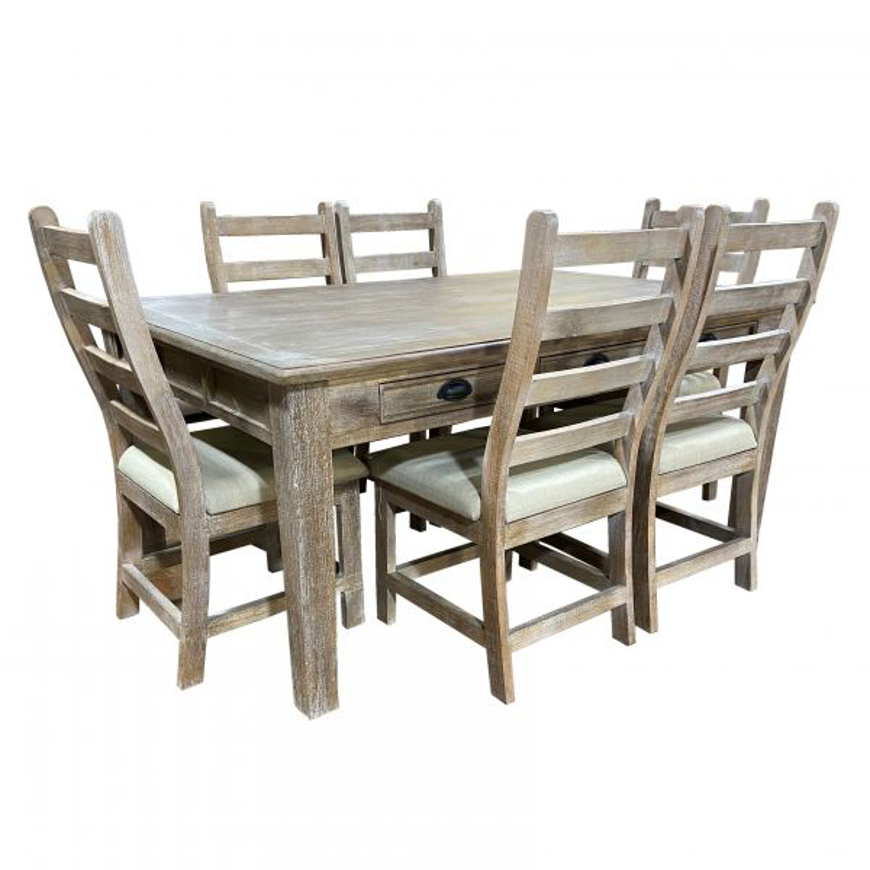 Picture of RUSTIC 6' JOANNA TABLE & 6 CHAIRS