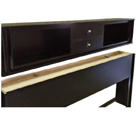 Picture of Amish King-Size Headboard with 2 Drawers