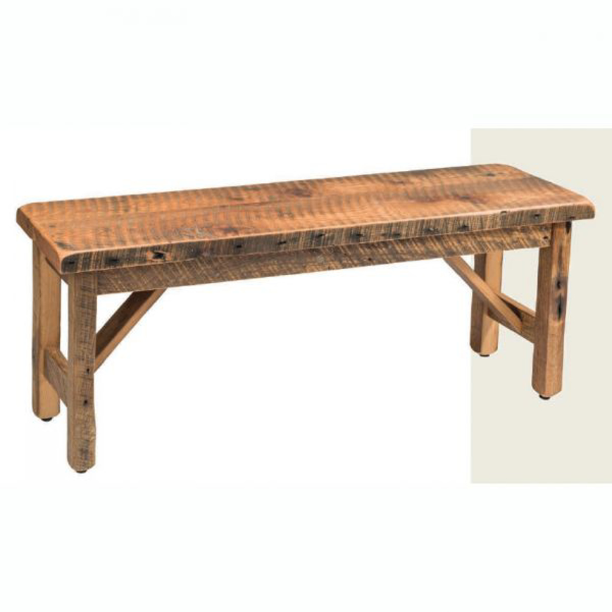 Picture of AMISH RECLAIMED BARNWOOD BENCH